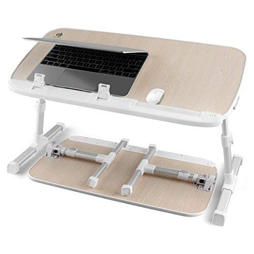 Adjustable Laptop Stand for Computer Riser Standing Desk Portable Lap Desk for Bed & Sofa Tray Foldable Laptop Table Stand for Dinner with 24 inch Platform (1 Pack Burlywood) [並行輸入品]   B07K9QWNS5