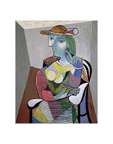 - McGaw Graphics Portrait of Marie-Therese, 6th January 1937 by Pablo Picasso - Art Print Poster - Paper Size 14