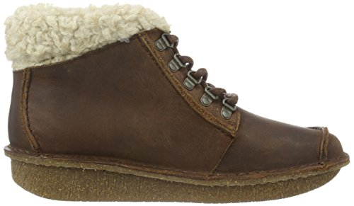 Clarks Funny-Girl - Botines para mujer Marrón (Brown Leather)