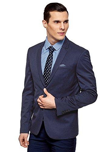 oodji Ultra Men's Slim-Fit Blazer with Chest Pocket