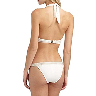 Gottex Women's Swimwear White Rose Halter Top Two Piece Bikini Set Swimsuit (8)