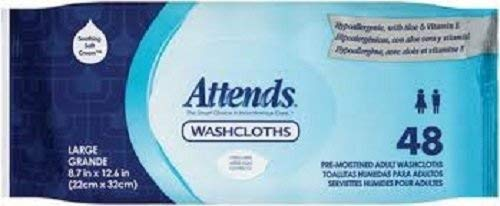 Pak Attends Washcloth - Special 5 Packs of 48 - Attends Washcloths Pop-up Pak PNGWCPP1000 ATTEND