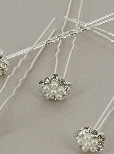 Pic zu Haar–Lot de 5–Strass und Perlen–Produkt Gespeichert und verschickt Schnell seit Frankreich Ivoire - Ecru