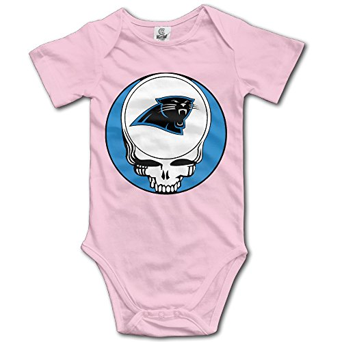 Baby' Carolina Panthers And Greatful Head Logo Romper Jumpsuit Bodysuit
