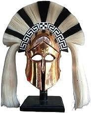 D3 MART Medieval Greek Corinthian Corian Helmet Roman Knight Spartan Helmet with Plume