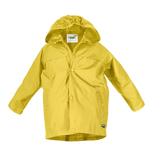 Splashy Children's Rain Jacket (6X/7, Yellow) by Splashy