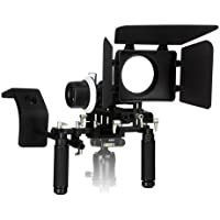 Fotodiox WonderRig Elite, Premium Grade Professional Video Rig, Shoulder Support Stabilizer, with Follow Focus, Matte Box and Shoulder Accessory Support Pad, Expandable 15mm Rod System for Canon, Sony, Nikon, Panasonic, Olympus, and Pentax DSLRs, Mirrorless Camera and Camcorders