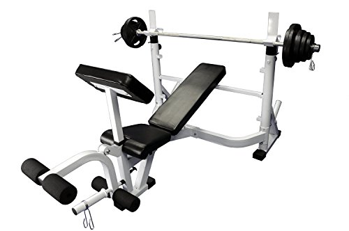 Olympic 300 lb weight set with Power Olympic Bench For Sale