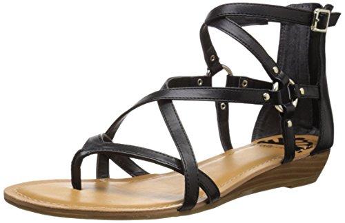 Fergalicious Black Women's Dylan Sandal Flat wwxaB4TqS