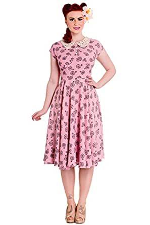 Hell Bunny Penny Lover 50s Dress (XS, Pink)