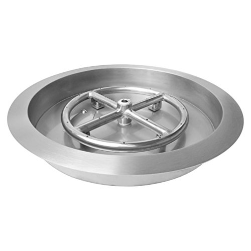 Stanbroil Stainless Steel Round Drop-In Fire Pit Burner Ring Pan, 13-Inch by Stanbroil (Image #7)