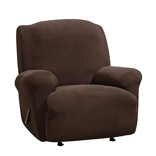 SureFit Stretch Morgan 1-Piece - Recliner Slipcover - Chocolate