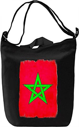 Morocco Flag Borsa Giornaliera Canvas Canvas Day Bag| 100% Premium Cotton Canvas| DTG Printing|
