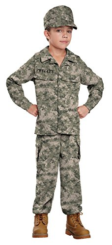 $10 Halloween Costumes (California Costumes Soldier Costume, One Color, 10-12)