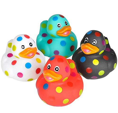 "Rhode Island Novelty 2"" Polka Dot Rubber Ducks 