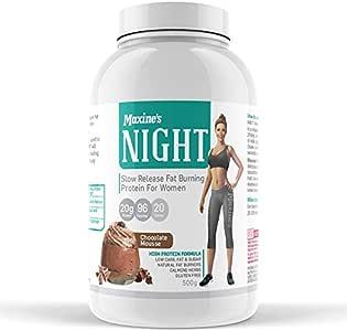 Maxine's Night Slow Release Protein Powder for Women, Vanilla Dream, 500g