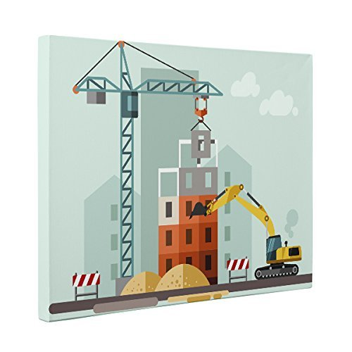 Job Site Construction CANVAS Wall Art Home Décor by Paper Blast