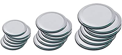 Set of 6 Very High Quality Beveled Round Mirrors For Your Crystal Figurines and Other Collectibles