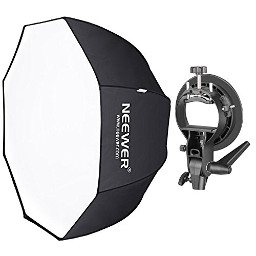 Studio Portrait - Neewer 48 inches/120 centimeters Octagonal Softbox with S-Type Bracket Holder (with Bowens Mount) and Carrying Bag for Speedlite Studio Flash Monolight, Portrait and Product Photography