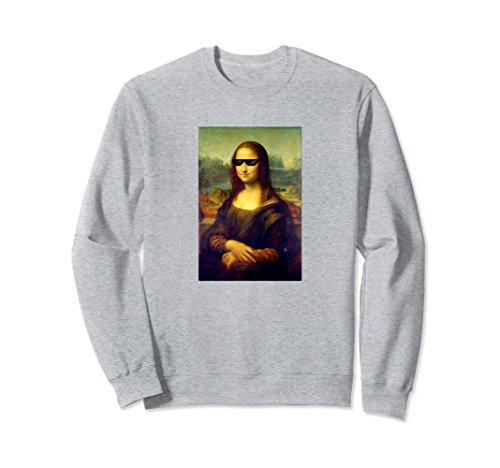 Unisex Gangsta Mona Lisa Leonardo Da Vinci Funny Art Sweatshirt Medium Heather - Vinci Sunglasses Da