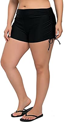 Sociala Women's Plus Size Swim Shorts Boyleg Swimsuit Bottoms Beach Boardshorts
