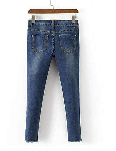 YFLTZ Unie Femme Couleur Slim Blue pour Pantalon Jeans 6rOw6Y