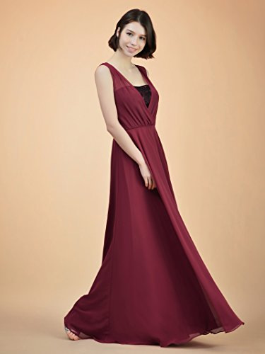 Long Formal Dress Maxi Evening for Burgundy A Bridesmaid Gown Women line Party Alicepub qf60n1x