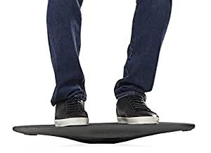 The Plane by FluidStance - Premium Standing Desk Balance Board - Designed to Keep the Body Moving - Improve Balance with Motion Board - Enhance Focus without Disrupting Workflow (Storm)