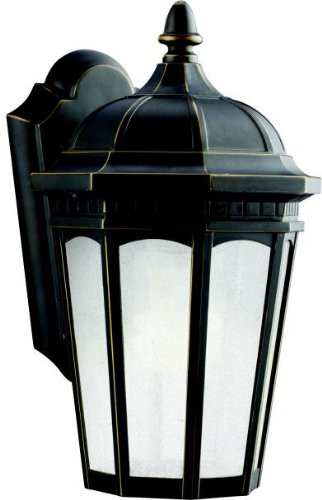 Kichler 11010RZ Courtyard Outdoor Wall 1-Light Fluorescent, Rubbed ()