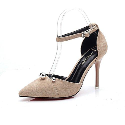 Inconnu 1To9 Sandales Compensées Femme Gris, 38.5 EU, MMSG00007
