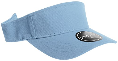 Enimay Sports Tennis Golf Sun Visor Hats Adjustable Velcro Plain Bright Colors Powder Blue