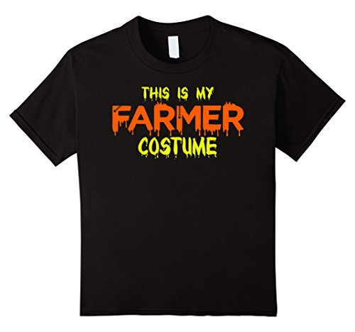 Kids This Is My Farmer Costume Halloween T Shirt 10 Black