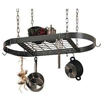 Amazon.com: La Cocina Gourmet ovalados Bote rack con rejilla ...