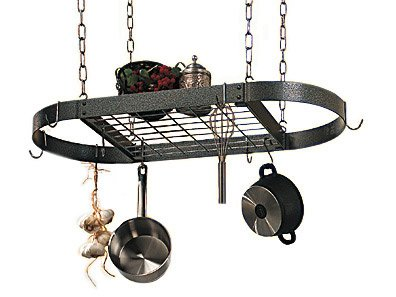 chen Pot Rack with Grid (Copper Grid Oval Rack)