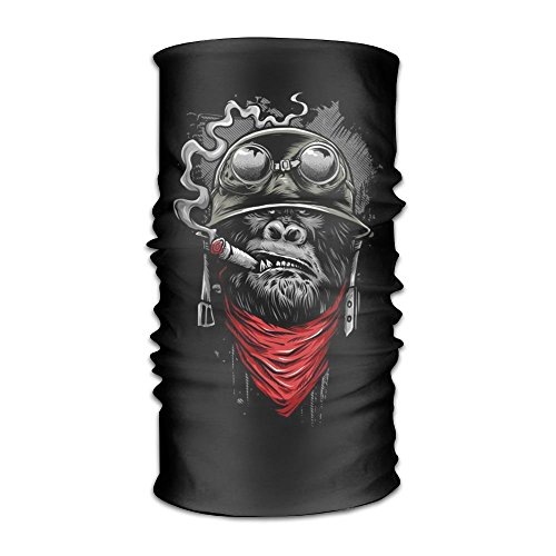 SVVOOD Smocking Business Monkey Headwear Magic Scarf Balaclava UV Protection Bandana Headband Neck Gaiter Face Sun Mask For Fishing Hunting Yard Work Running -