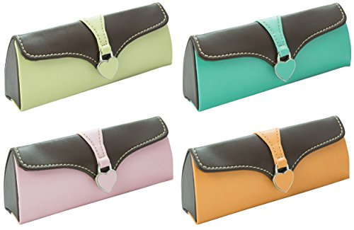 Ladies Colour Glasses Clasp Hearts Lucky 1 Choice Clutch Magnetic Bag Case Dip Random dtxqBTSF