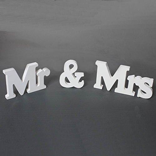 Culturemart English Letters Mr&Mrs Wedding Decoration Present Table -