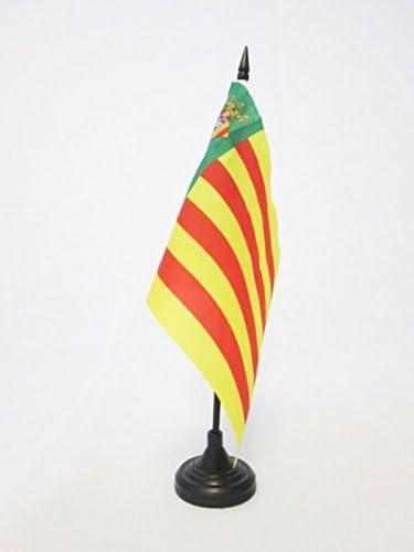 AZ FLAG Bandera de Mesa de la Provincia DE CASTELLÓN 21x14cm - BANDERINA de DESPACHO CASTELLÓN ENComunidad Valenciana 14 x 21 cm