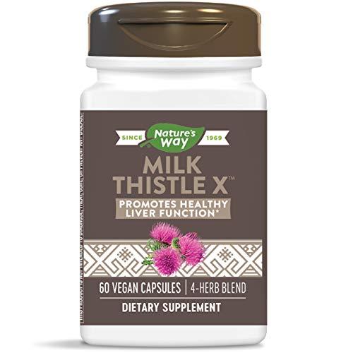 Nature's Way Milk Thistle X w/Artichoke Dandelion & Licorice, 60 Count (Enzymatic Therapy Milk Thistle)