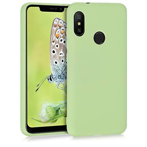 kwmobile TPU Silicone Case for Xiaomi Redmi 6 Pro/Mi A2 Lite - Soft Flexible Shock Absorbent Protective Phone Cover - Pistachio Green