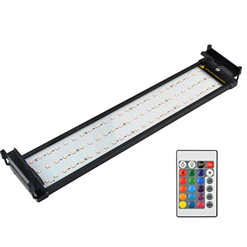 NICREW Aquarium LED Light, Dimmable RGB Fish Tank Light with Remote for Freshwater