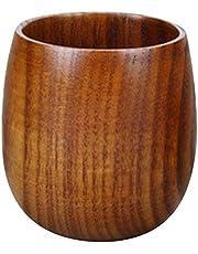 Kulai Handmade Natural Wooden Cup Mug Tea Set Cup for Coffee Beer Tea Juice Milk