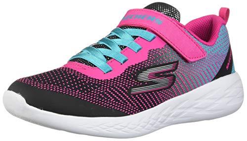 Skechers Kids Girls' GO Run 600-DAZZLE STRIDES Sneaker, Black/Multi, 12.5 Medium US Little Kid (Girls Shoes Little Skechers)
