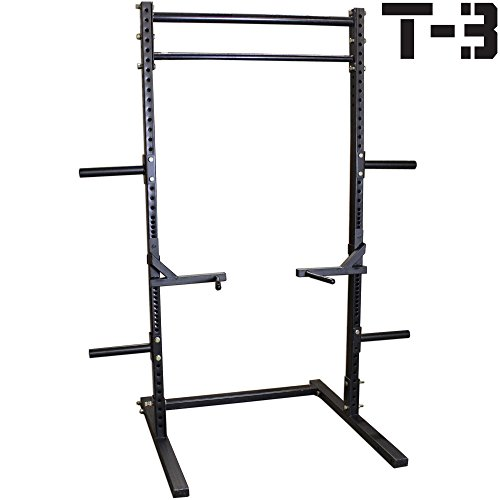 Titan T-3 Series Squat Rack w/ Dip Bars Deadlift Weight Training Stand Pull-Up