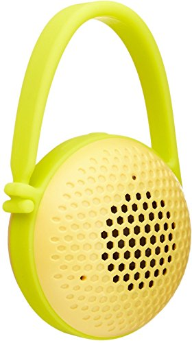 AmazonBasics Portable Wireless Nano Mini Bathroom Bluetooth Speaker, Splash-Proof, for Indoor or Outdoor Use, Yellow