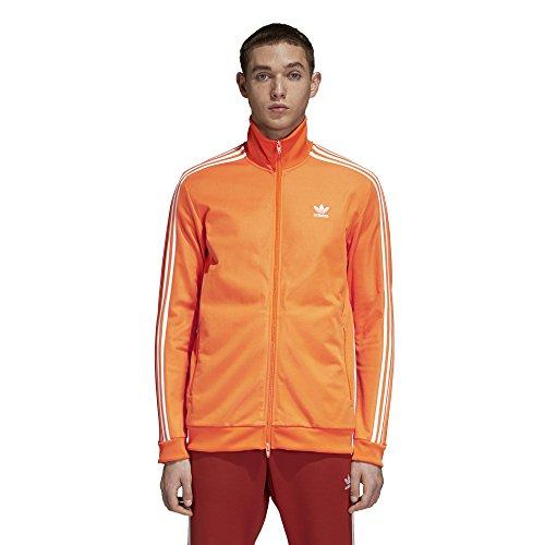 (adidas Originals Men's Franz Beckenbauer Tracktop, Bright Orange, M)