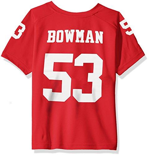 NFL Boys 4-7 NaVorro Bowman San Francisco 49Ers Boys -Name V-Neck Tee, Crimson, M(5-6) -