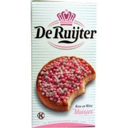 Dutch Rose - De Ruijter White-Pink Sprinkles / Rose en Witte Muisjes, 280g