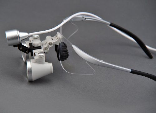 Price comparison product image Songzi Optics Ultra-light 3X Silver-gray Binocular Dental Loupes Surgical Loupes & High brightness SZ-1 Surgical Headlight (working distance :(360 - 460 mm)R)