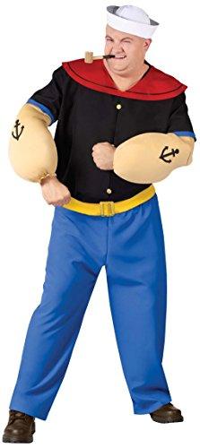 [Popeye Adult Costume (Plus)] (Olive And Popeye Halloween Costume)